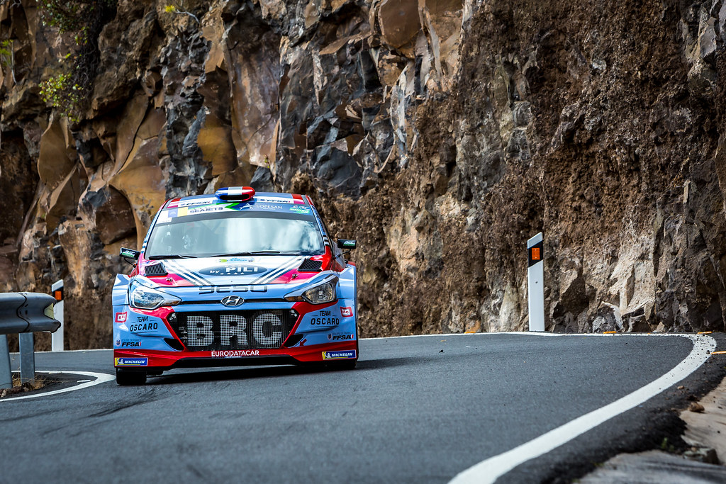 05 LOUBET Pierre louis (fra), LANDAIS Vincent (fra), BRC RACING TEAM, HYUNDAI I20 R5, action during the 2018 European Rally Championship ERC Rally Islas Canarias, El Corte Inglés,  from May 3 to 5, at Las Palmas, Spain - Photo Thomas Fenetre / DPPI