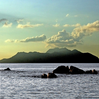 Seychelles, Silhouette from Mahé