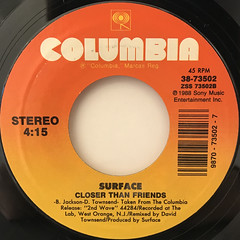 SURFACE:CLOSER THAN FRIEDS(LABEL SIDE-A)