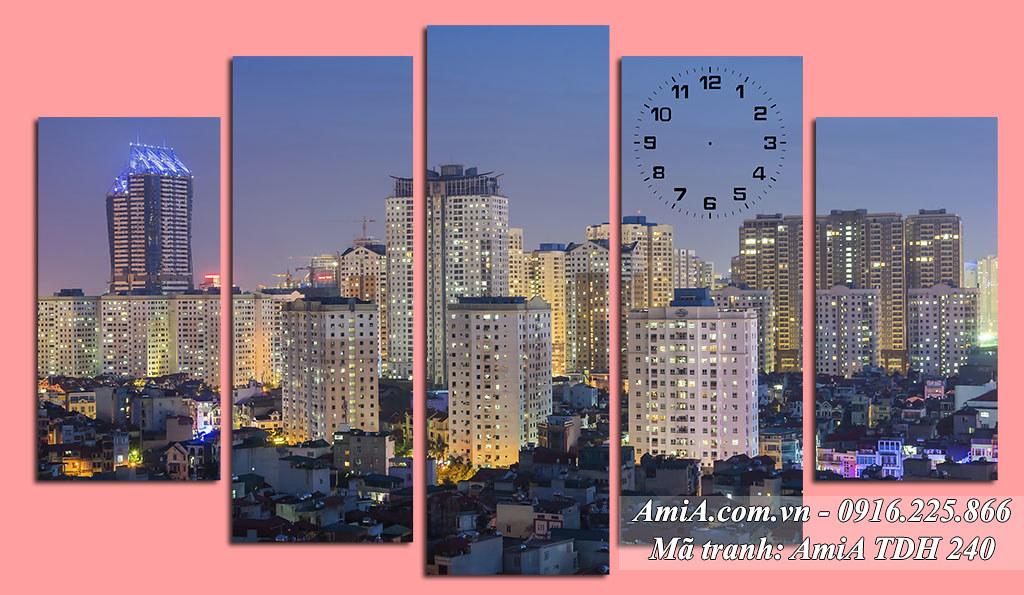 AmiA 240 - Tranh phong cảnh đẹp thành phố đô thị ở Việt Nam