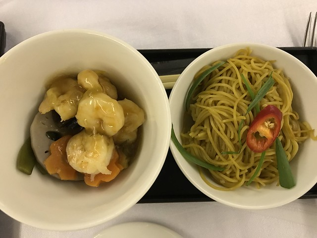 PAL meal,  noodles and shrimps