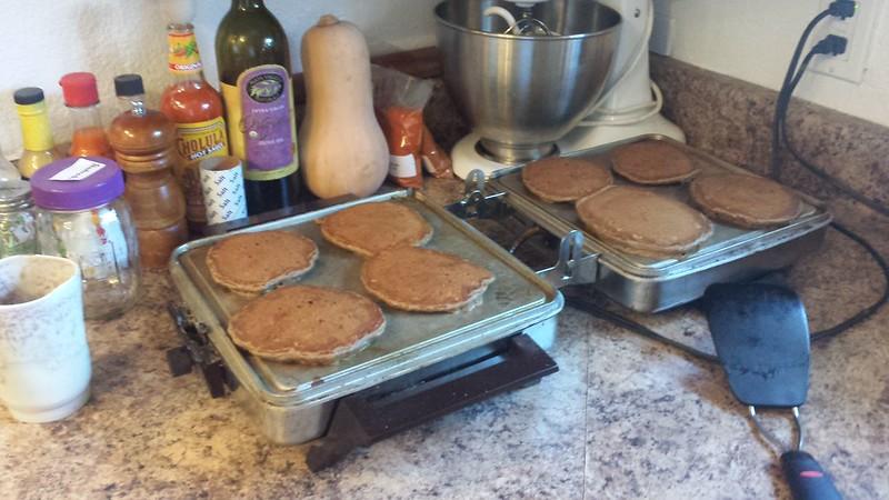 Pancakes on Grandpa's waffle iron