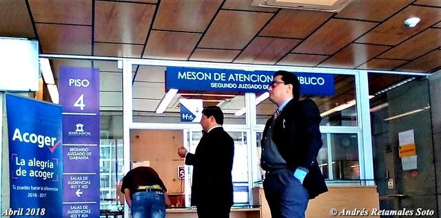 Segundo Juzgado de Garantía de Santiago, abril 2018. Santiago de Chile - Andrés Retamales