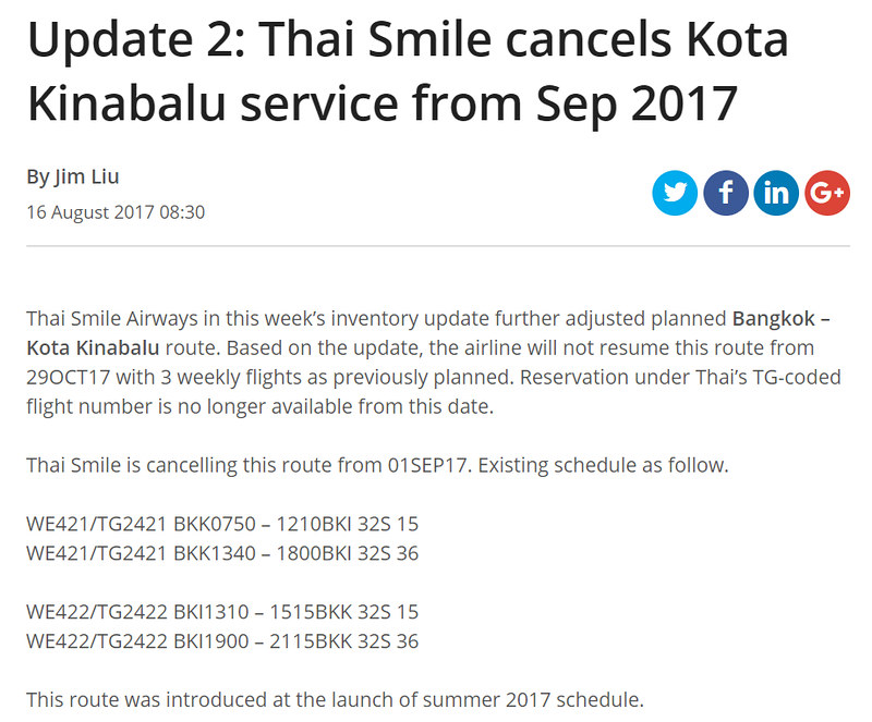 Thai Smile Flight Suspended