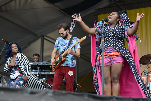Tank and the Bangas on Day 5 of Jazz Fest - 5.4.18. Photo by Leon Morris.