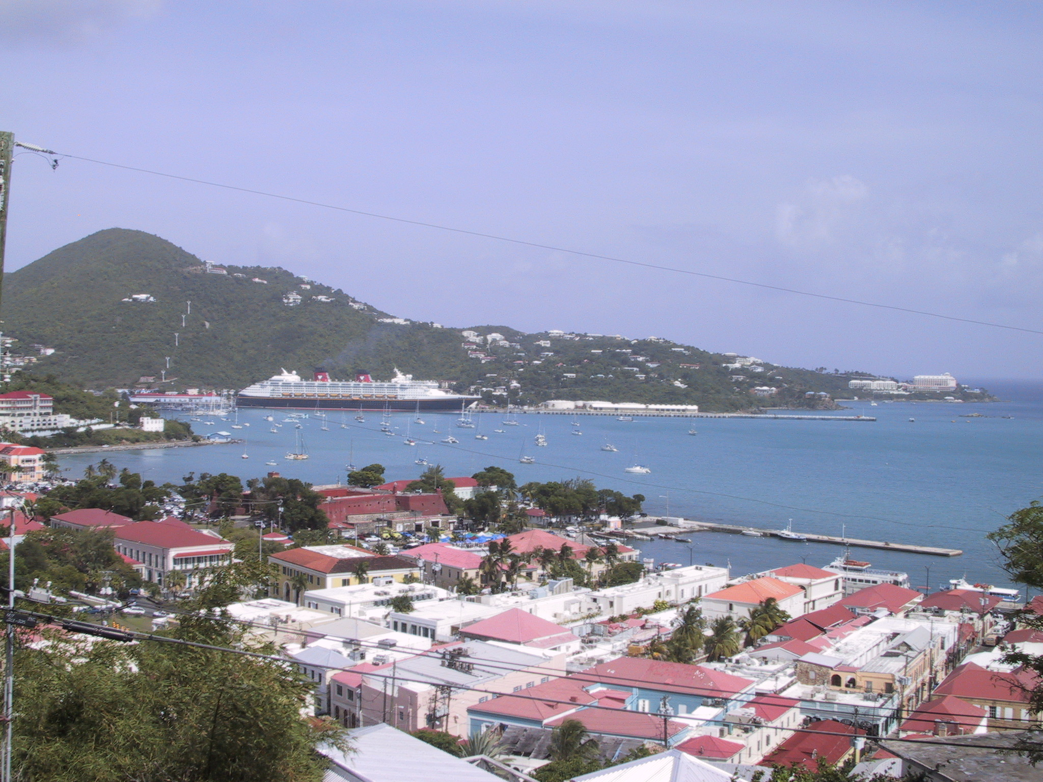 City view of Charlotte Amalie on St. Thomas in the U.S. Virgin Islands. Photo taken on June 6, 2001.