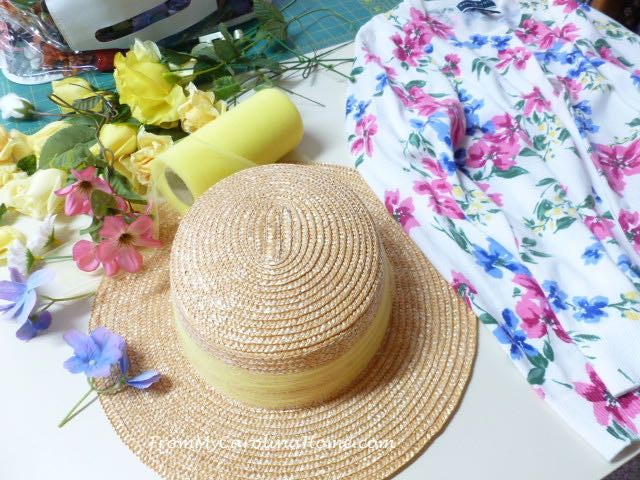 Spring Hat Makeover at From My Carolina Home
