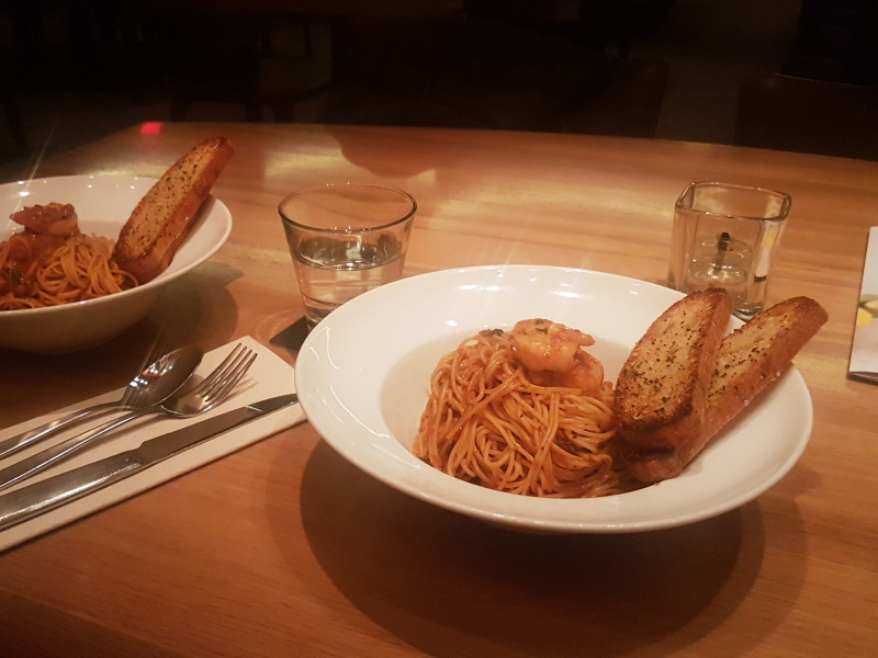 Cactus Club prawn spaghattini