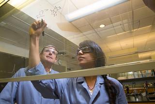 Professor Dan O'Leary's chemistry lab, 2015.