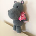 Standing Hippo with Ribbon