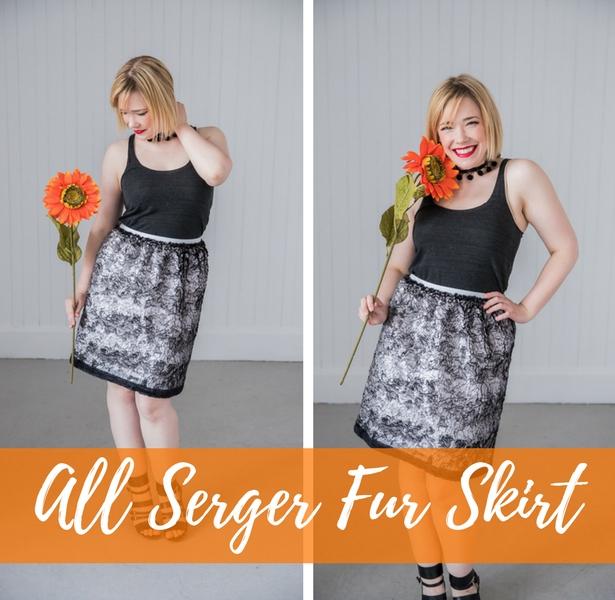 All Serger Fur Skirt