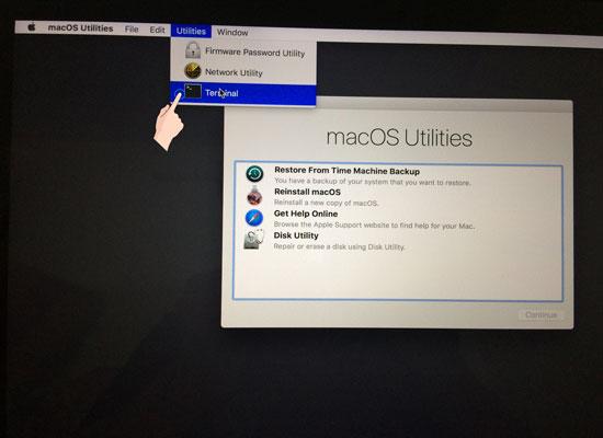 reset password macbook air