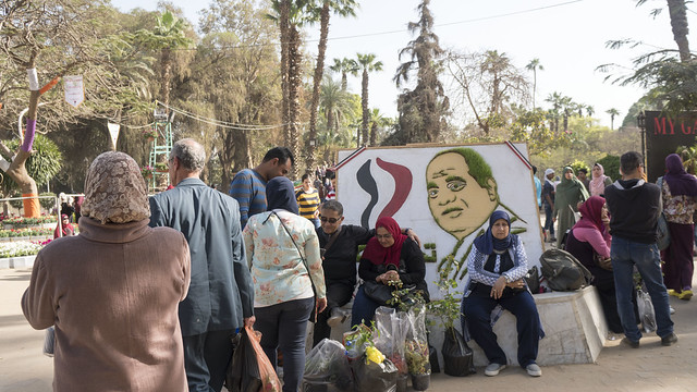 President SIsi at Egypt's Spring Flowers Fair 2018