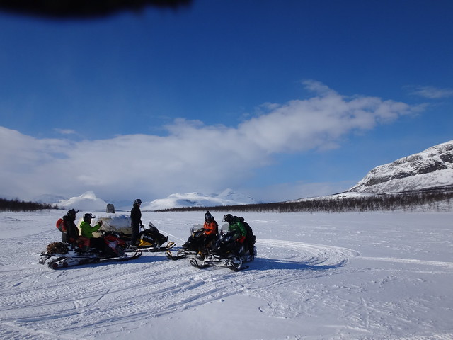 snowmobile Kilpisjärvi