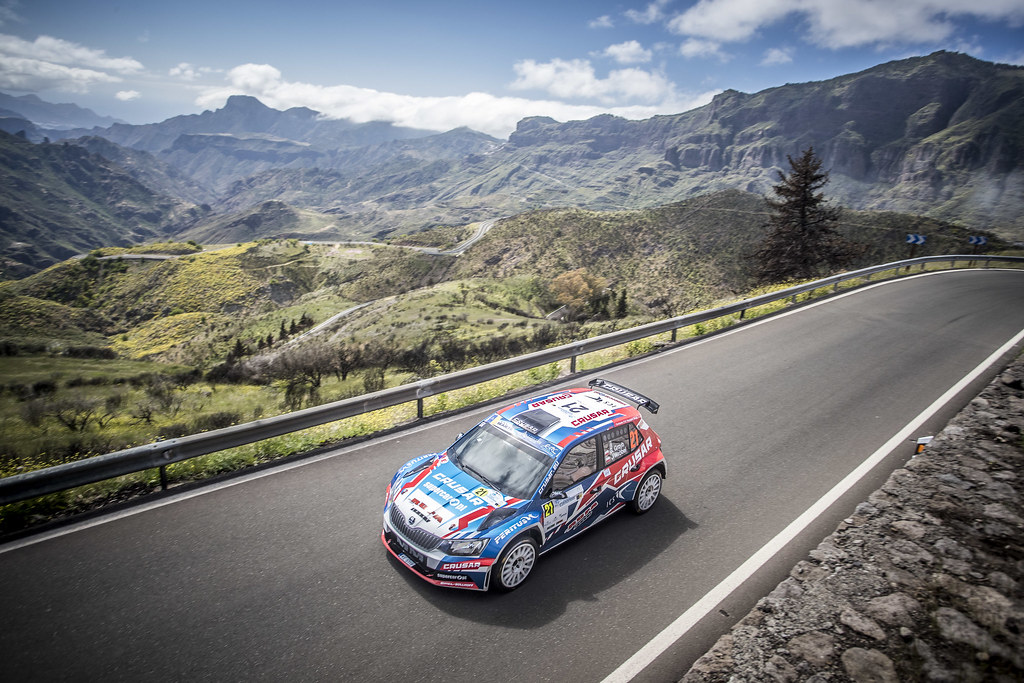 21 GRZYB Grzegorz, WORBEL Jakub, team Rufa Sport, Skoda Fabia R5, action during the 2018 European Rally Championship ERC Rally Islas Canarias, El Corte Inglés,  from May 3 to 5, at Las Palmas, Spain - Photo Gregory Lenormand / DPPI