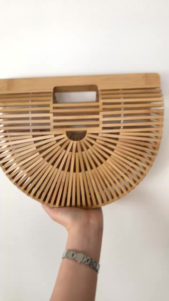 Top Handle Bamboo Bag