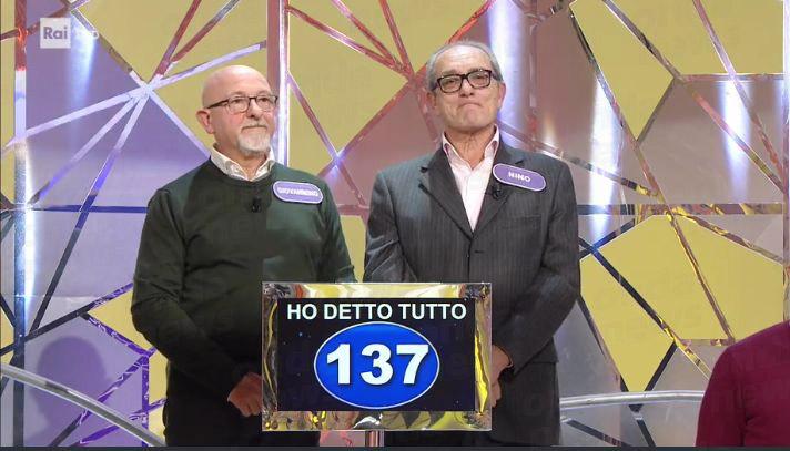 Giovanni Borgia e Nino Cappelli di Sala Consilina concorrenti al quiz Zero e Lode Su Raiuno