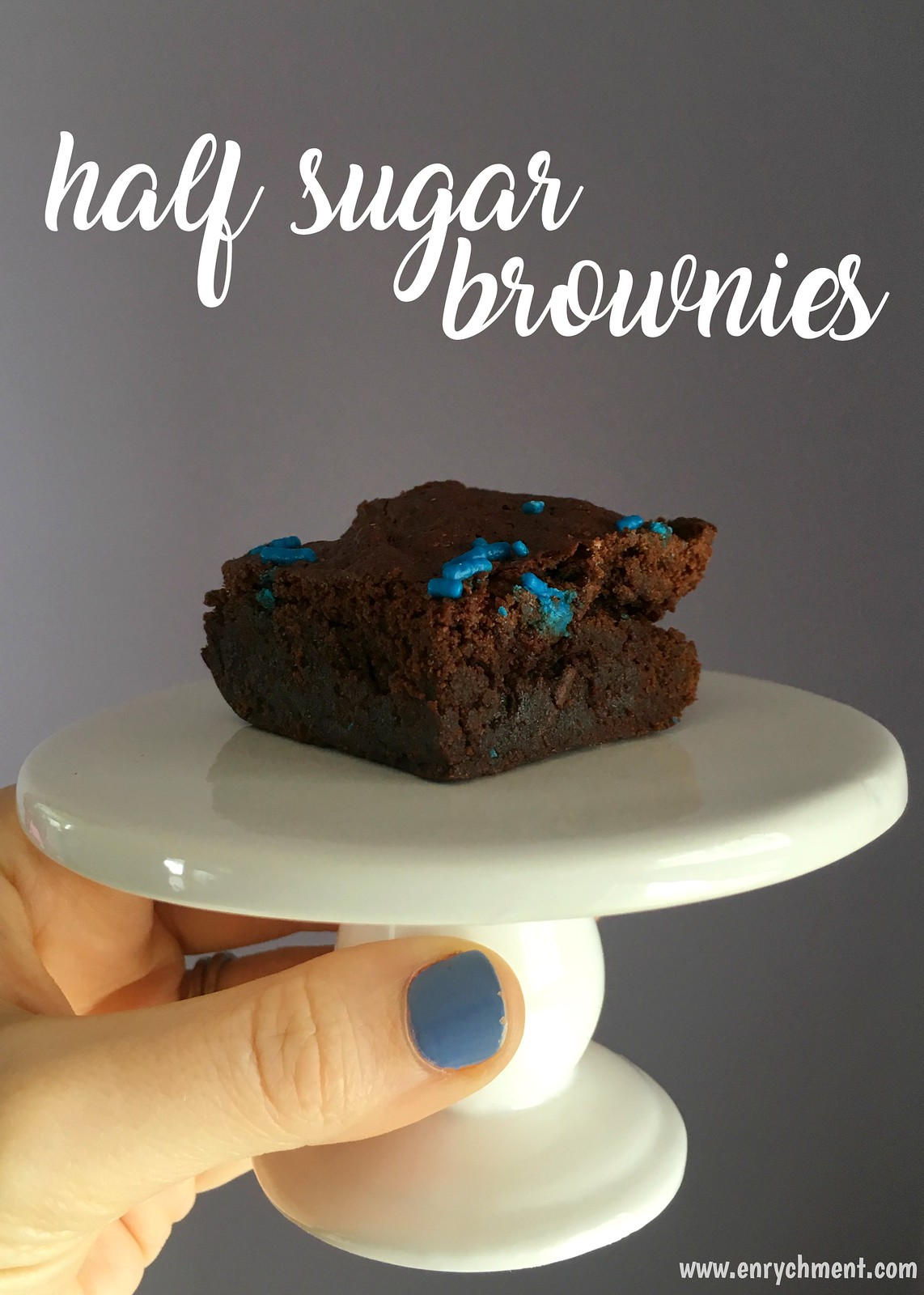 Make brownies (or any other treat!) with half the sugar thanks to Sugar 2.0! | www.enrychment.com