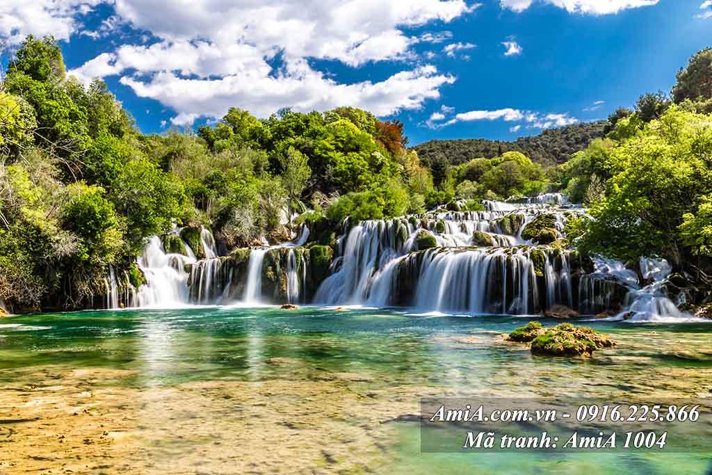 AmiA 1004 - Tranh đẹp quê hương thác nước bản Giốc ở Cao Bằng Việt Nam