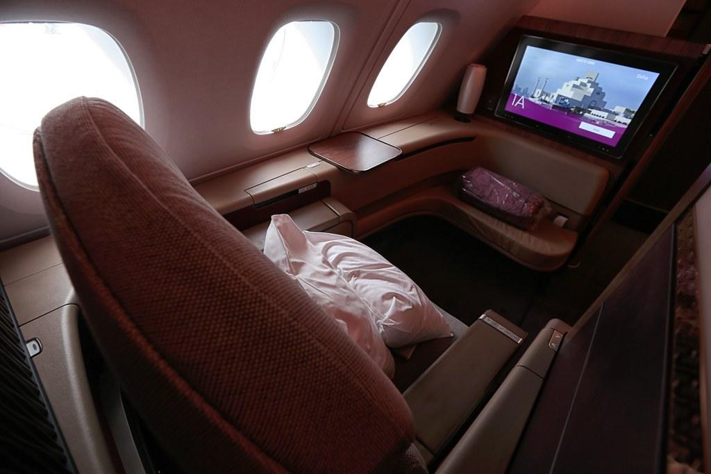 Qatar A380 First Class suite.