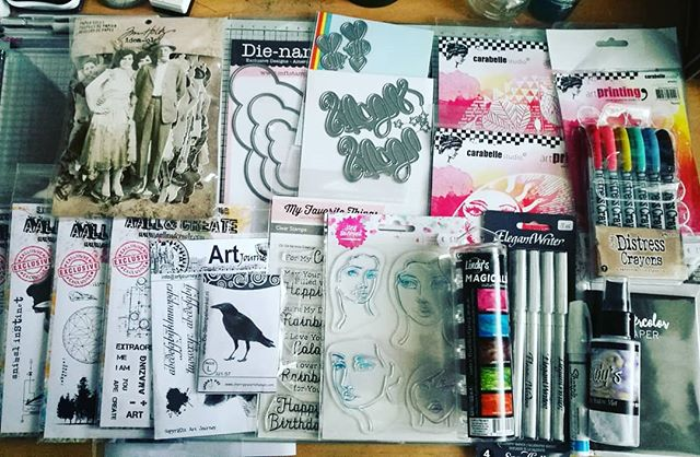 Spoils from yesterday at @artspecially event at Nijkerk yesterday. Was such an amazing day meeting wonderful people and lots of new stuff to try out! #artspecially #mixedmediatechniques #mixedmedia #aallandcreate #artsupplies #craftaholic #creativejourney