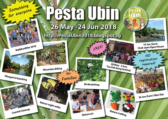 Pesta Ubin 2018 poster: Something for everyone!