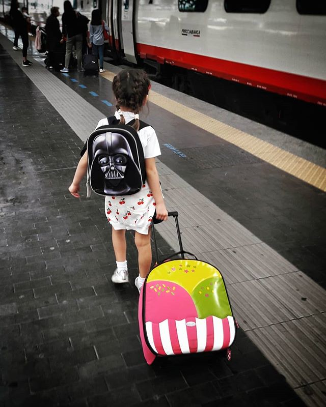 Train trip #mylittlebabygirl #family #fun #life #lovely #cute #love #daughter #kids #train #colorful #instagood #picoftheday #photooftheday #igers #igersitalia #igersmilano #nice #Milano #trainstation