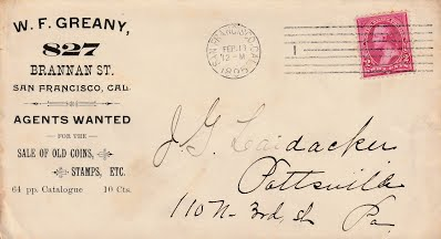 GREANY, 1895 letter envelope