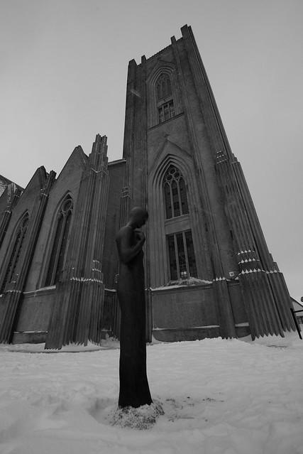 Landakotskirkja, Reykjavík, February 2018