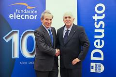 11/04/2018 - Firma de convenio de colaboración entre la Fundación Elecnor y la Universidad de Deusto