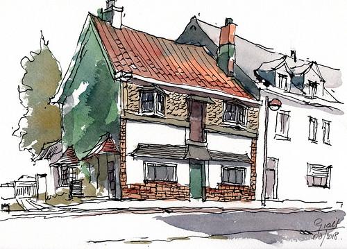 huis in Stationsstraat Westmeerbeek