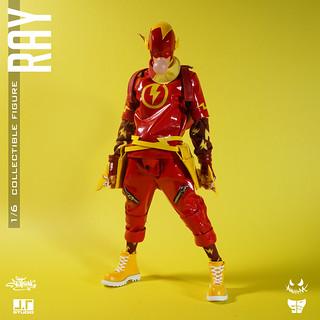 決心奪回鎂光燈焦點的紅色閃電!! J.T Studio Street Mask 系列【Ray】1/6 比例可動人偶作品
