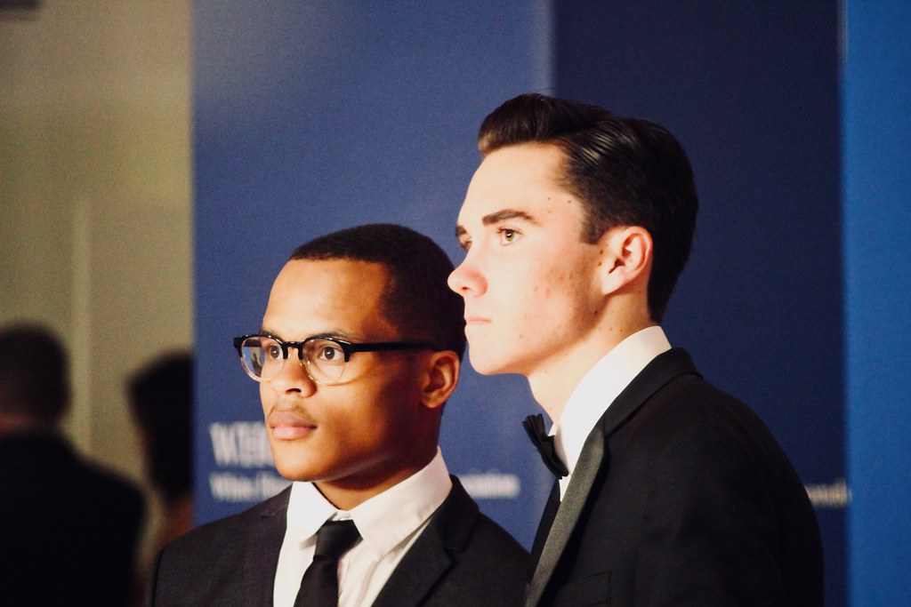 Zion Kelly and David Hogg at the White House Correspondents Dinner