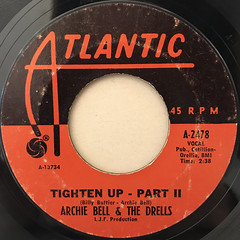 ARCHIE BELL & THE DRELLS:TIGHTEN UP(LABEL SIDE-B)
