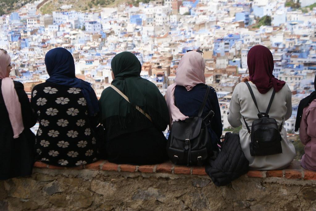 Vue depuis l'esplanade de la Mosquée Bouzâafar sur Chefchaouen
