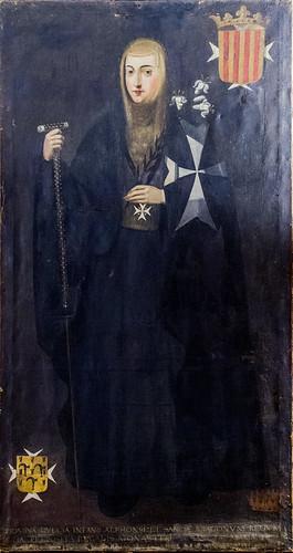 Monasterio de Sijena, tela de la Infanta Dulce