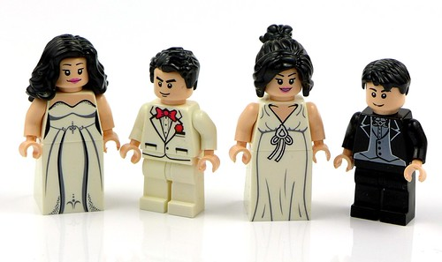 Minifigures Bride and Groom Narzeczeni 01