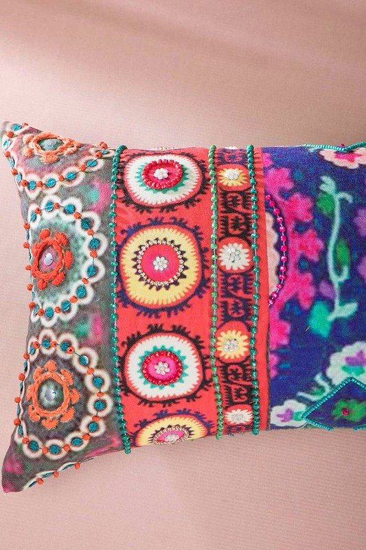 bohemian colorful cushion for summer