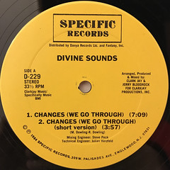 DIVINE SOUNDS:CHANGES(LABEL SIDE-A)