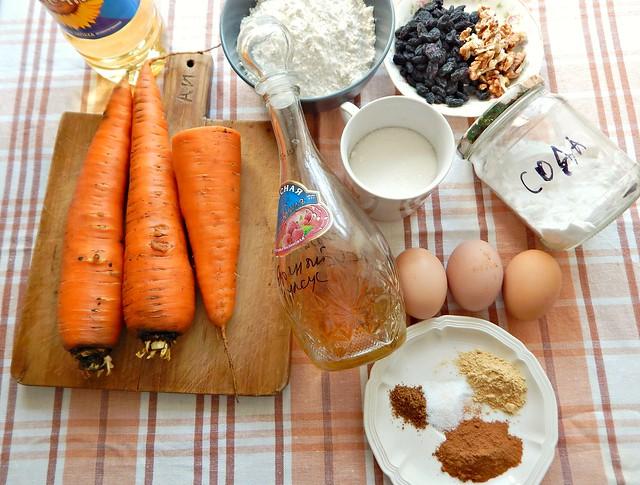 Морковный кекс с пряностями, пошаговый фоторецепт | HoroshoGromko.ru