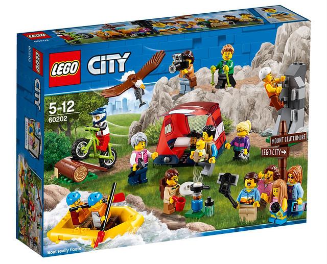 超多全新配件讓露營更好玩~ LEGO 60202 城市系列【野外冒險人偶包】People Pack - Outdoor Adventures