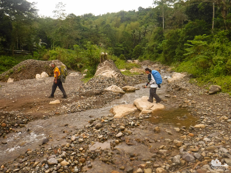 Crossing the Buot River
