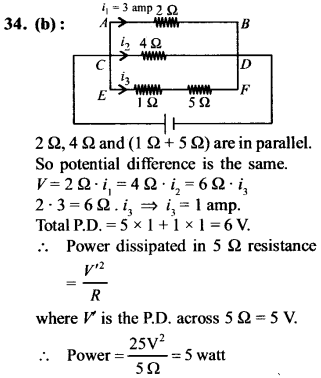 NEET AIPMT Physics Chapter Wise Solutions - Current Electricity explanation 34