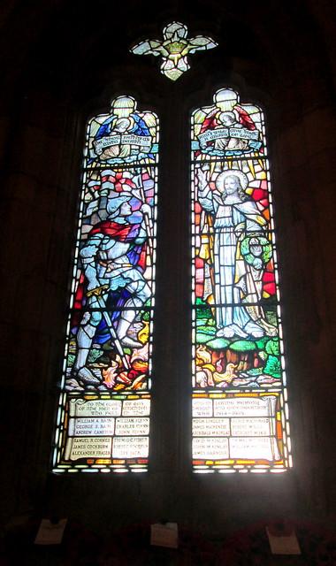 aStained Glass War Memorial, Crichton Collegiate Kirk