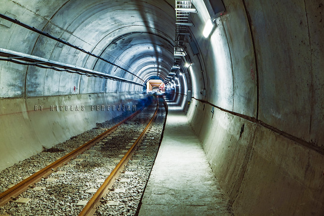 Independent Tunnel. In the background, the future Catalinas station - Line E extension