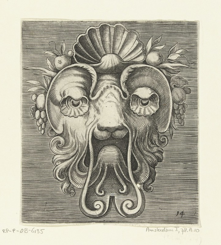 001-Flemish mask designs in the grotesque style 1555- Cornelis Floris- Rijksmuseum