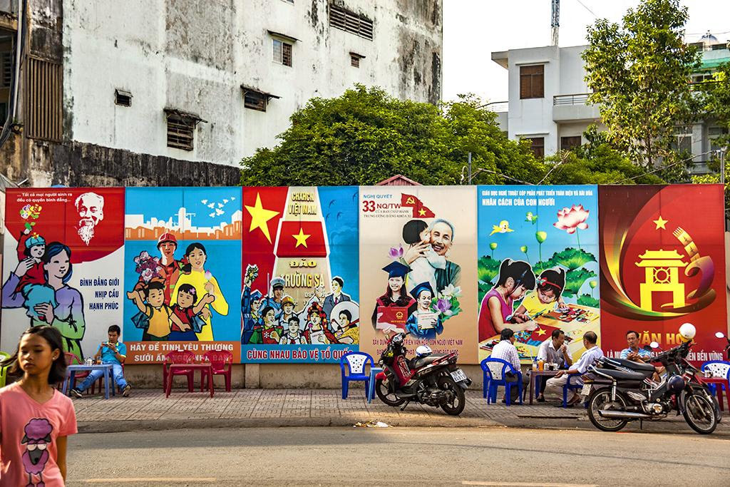 Propaganda in District 5--Saigon