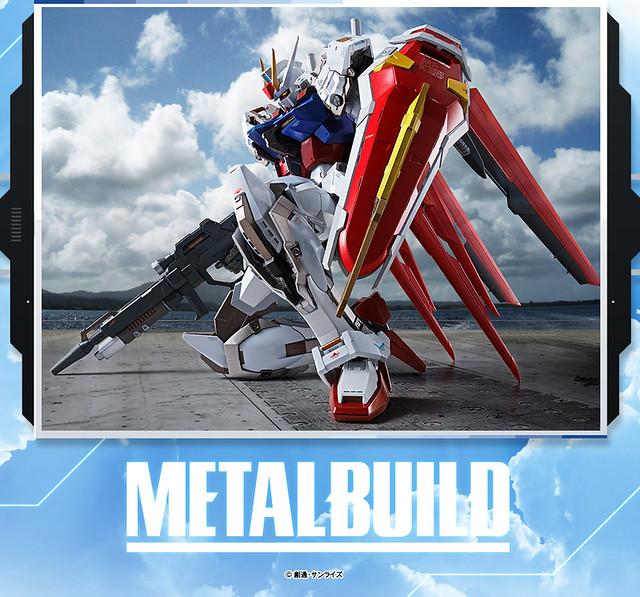 【更新商品資訊】METAL BUILD《機動戰士鋼彈SEED》GAT-X105+AQM/E-X01 翔翼型攻擊鋼彈(メタルビルド エールストライクガンダム)08月發售!