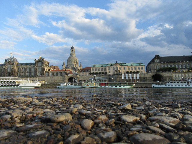 Dresden-Panorama am Elbstrand
