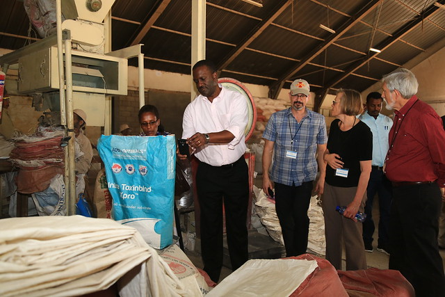 Participants visit Kaliti animal feed enterprise